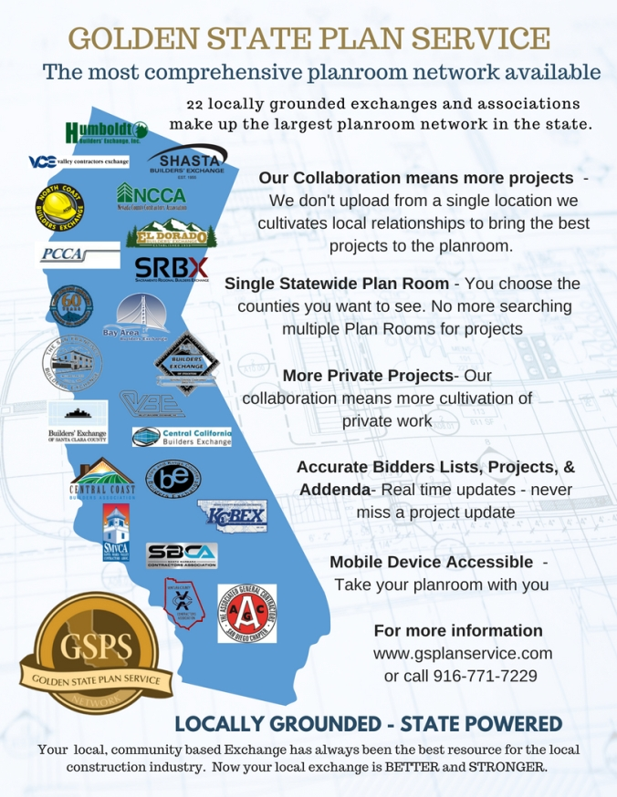 The Golden State Plan Service Network Is A Collaborative Effort Between 22 Full Service Contractorsociations And Builders Exchanges Across California